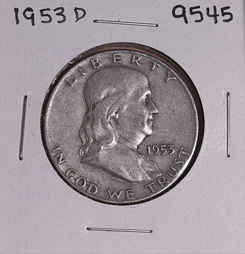 1953 D FRANKLIN SILVER HALF DOLLAR 9545