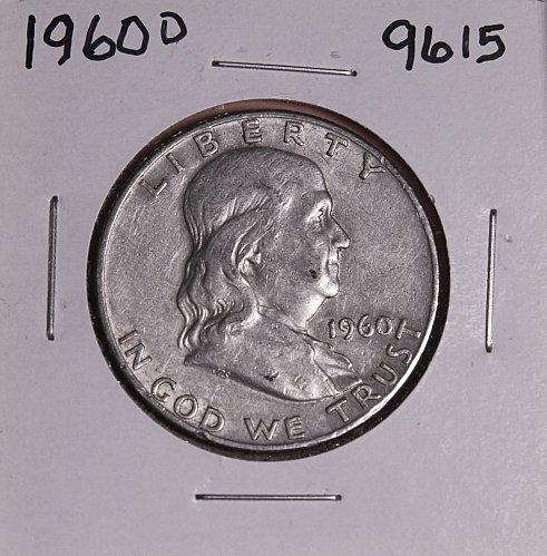 1960 D FRANKLIN SILVER HALF DOLLAR 9615