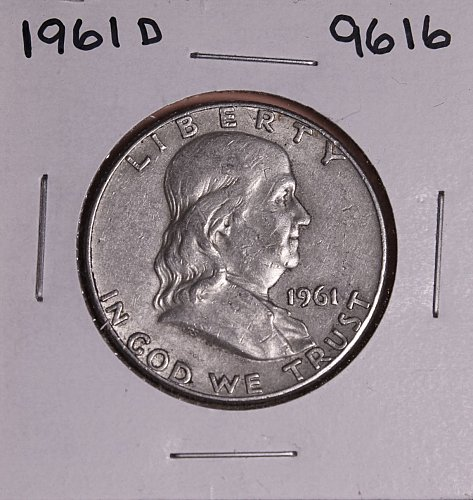 1961 D FRANKLIN SILVER HALF DOLLAR 9616