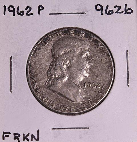 1962 P FRANKLIN SILVER HALF DOLLAR 9626