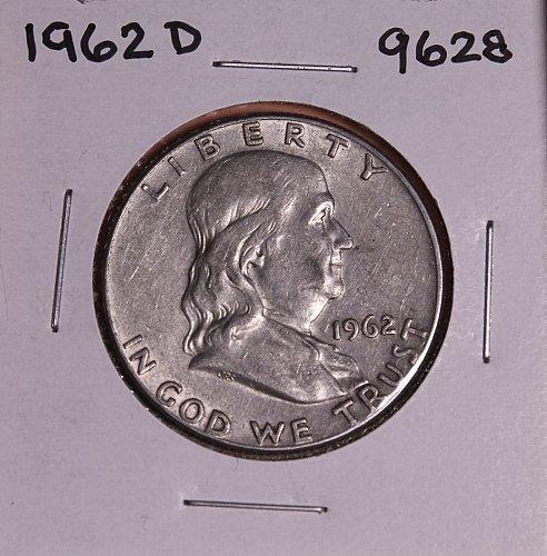 1962 D FRANKLIN SILVER HALF DOLLAR 9628