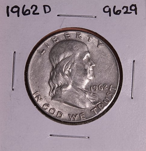 1962 D FRANKLIN SILVER HALF DOLLAR 9629