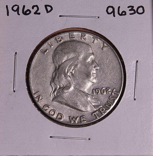 1962 D FRANKLIN SILVER HALF DOLLAR 9630