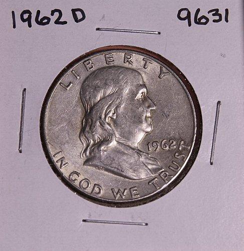 1962 D FRANKLIN SILVER HALF DOLLAR 9631
