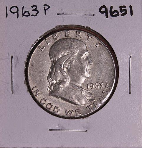 1963 P FRANKLIN SILVER HALF DOLLAR 9651