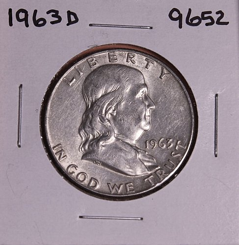 1963 D FRANKLIN SILVER HALF DOLLAR 9652
