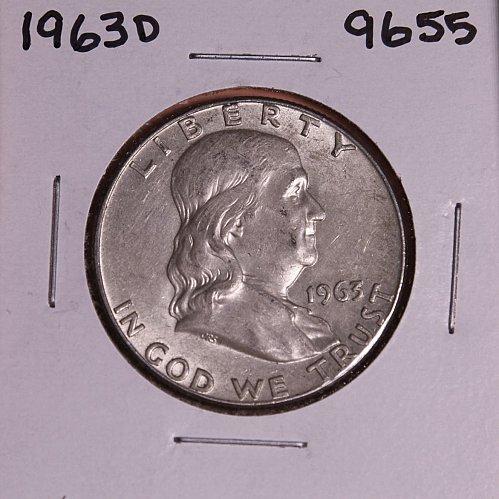 1963 D FRANKLIN SILVER HALF DOLLAR 9655