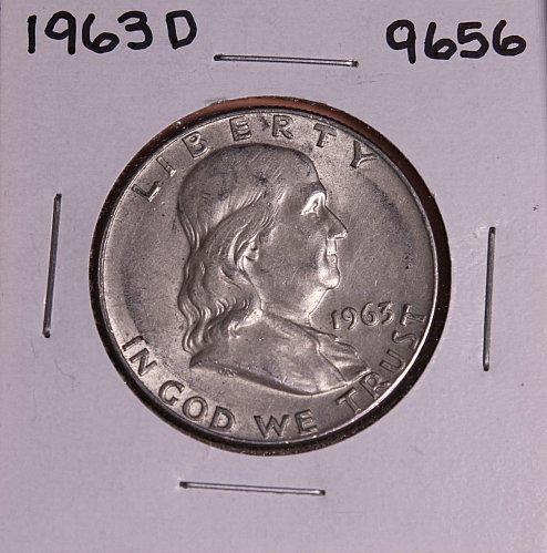 1963 D FRANKLIN SILVER HALF DOLLAR 9656