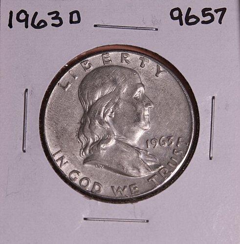 1963 D FRANKLIN SILVER HALF DOLLAR 9657