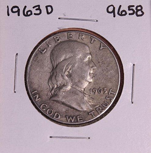 1963 D FRANKLIN SILVER HALF DOLLAR 9658