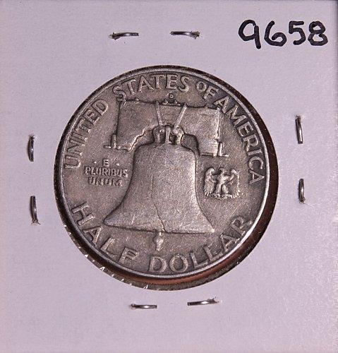 1963 D FRANKLIN SILVER HALF DOLLAR 9658 FREE SHIPPING !!