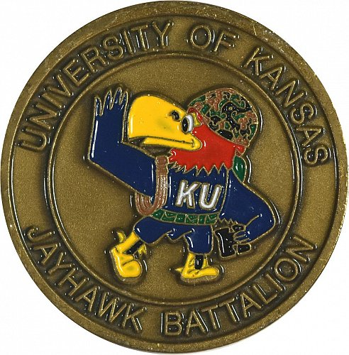 Challenge Coin, University of Kansas, ROTC, (Item 412)