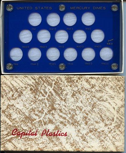 "Capital Plastics ""United States Mercury Dimes"" 15-Coin Holder, Blue  436A-BU"