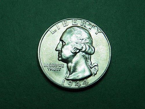 1944 P Washington Quarter Gem Uncirculated Coin   i46