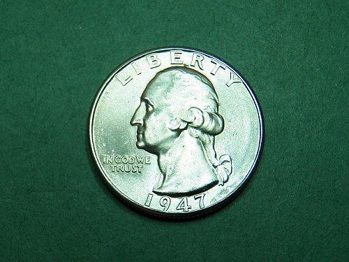 1947 D Washington Quarter Brilliant Uncirculated Coin   i49
