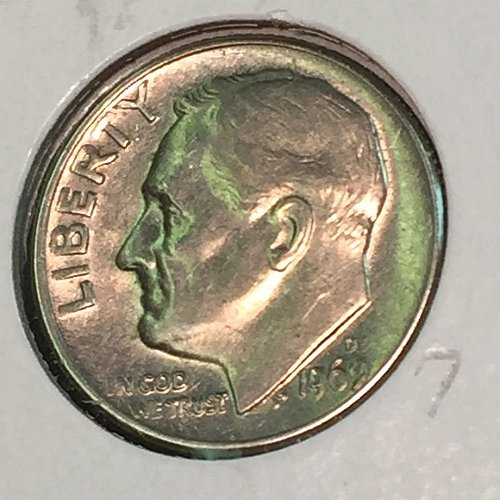 1969-D Roosevelt Dime (10322)