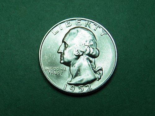 1952 S Washington Quarter Gem Uncirculated Coin  i52