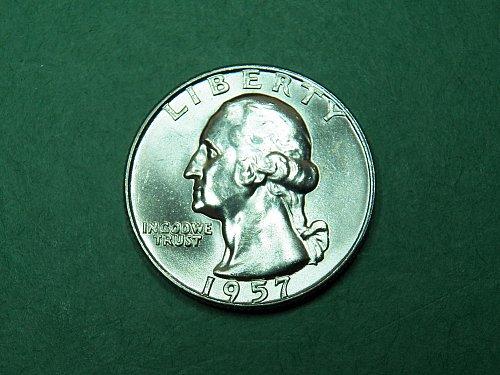 1957 D Washington Quarter Gem Uncirculated Coin   i54