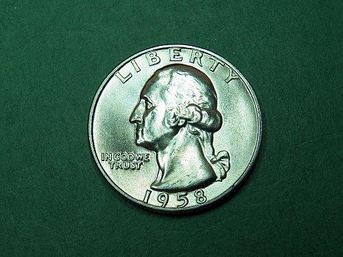 1958 D Washington Quarter Brilliant Uncirculated Coin   i55