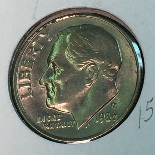 1986-D Roosevelt Dime (10347)