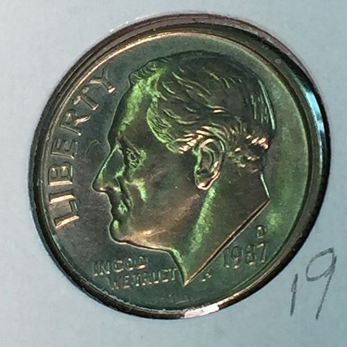 1987-D Roosevelt Dime (10349)