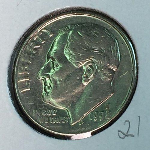 1988-D Roosevelt Dime (10350)
