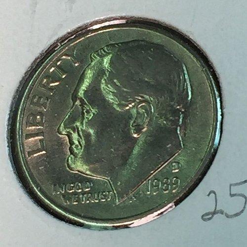 1989-D Roosevelt Dime (10352)