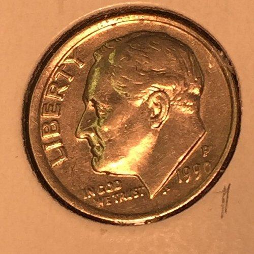 1990-P Roosevelt Dime (10354)