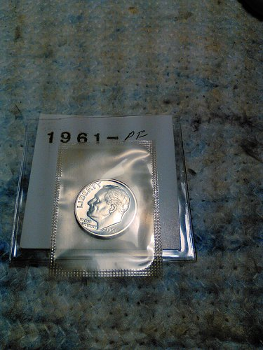 1961 SILVER PROOF ROOSEVELT DIME