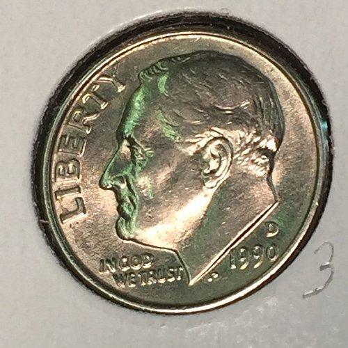 1990-D Roosevelt Dime (10355)