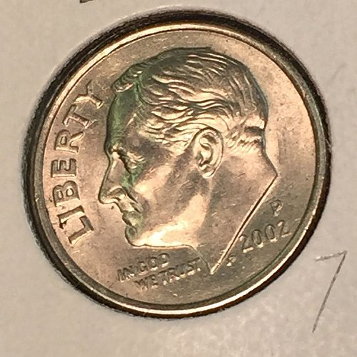 2002-P Roosevelt Dime (10369)