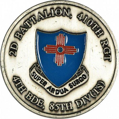 Challenge Coin, 410th Regiment, (Item 435)