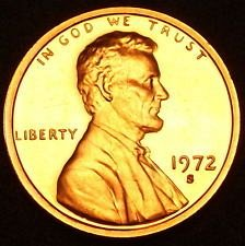 1972 S  PROOF  LINCOLN CENT