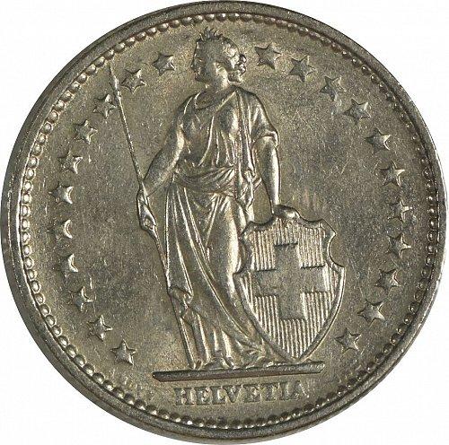 Switzerland, 1970, 2 Francs, (Item 415)