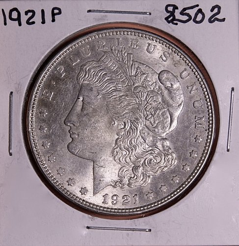 1921 P MORGAN SILVER DOLLAR 8502 VF20