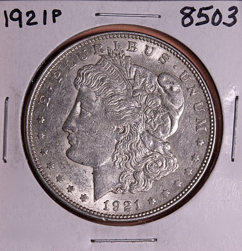 1921 P MORGAN SILVER DOLLAR 8503 F15