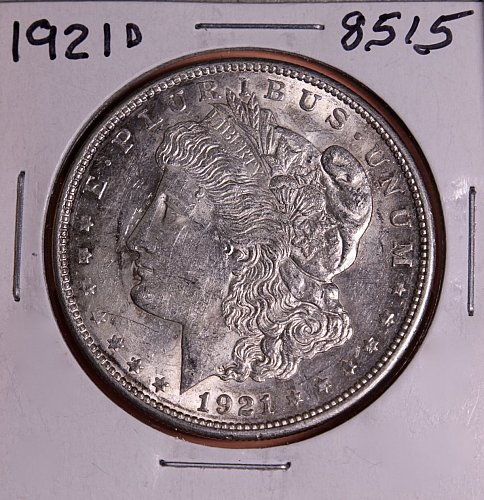 1921 D MORGAN SILVER DOLLAR 8515  F15