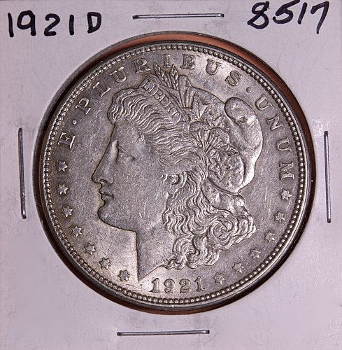 1921 D MORGAN SILVER DOLLAR 8517  F12