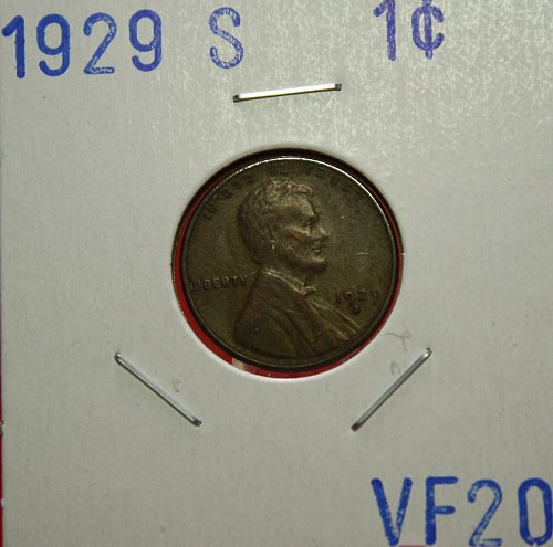 1929 S Lincoln Cent