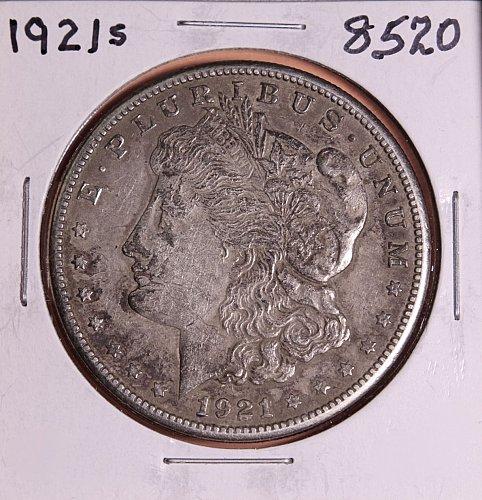 1921 S MORGAN SILVER DOLLAR 8520  VG