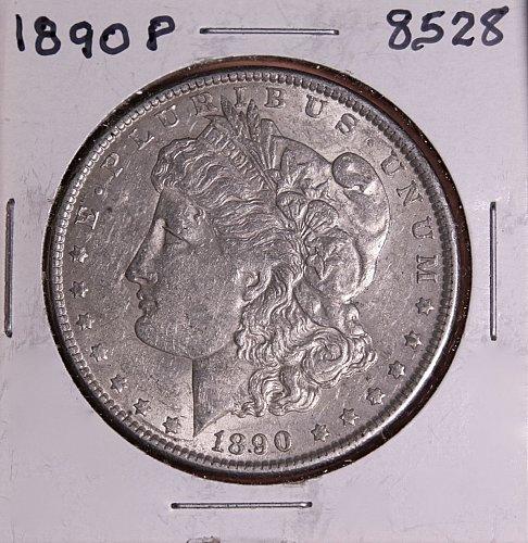 1890 P MORGAN SILVER DOLLAR 8528  F15