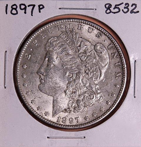 1897 P MORGAN SILVER DOLLAR 8532  VF