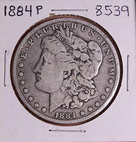 1884 P MORGAN SILVER DOLLAR 8539  VG