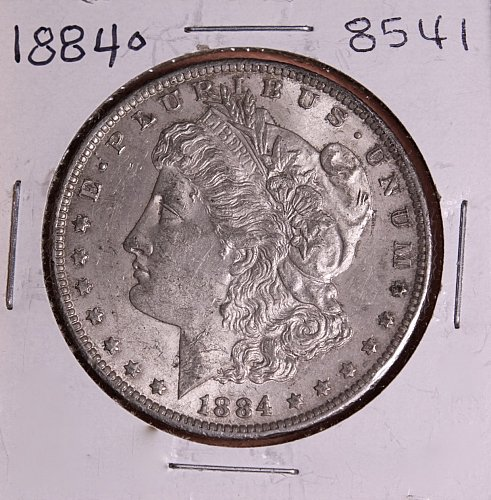 1884 O MORGAN SILVER DOLLAR 8541  AU55
