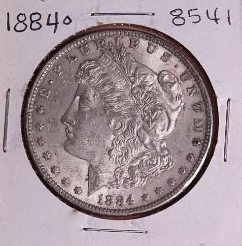 1884 O MORGAN SILVER DOLLAR 8541  AU55