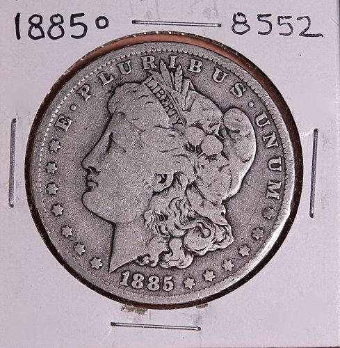 1885 O MORGAN SILVER DOLLAR 8552  GOOD