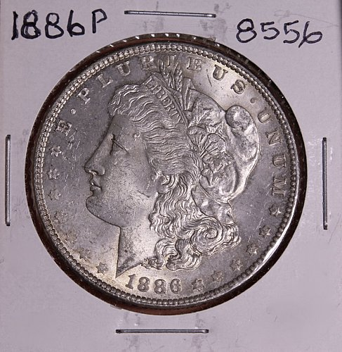 1886 P MORGAN SILVER DOLLAR 8556  VF20
