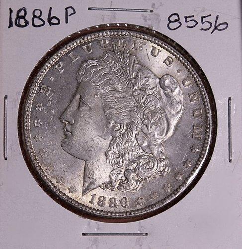 1886 P MORGAN SILVER DOLLAR 8556  VF20