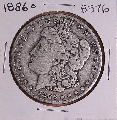 1886 O MORGAN SILVER DOLLAR 8576  F15