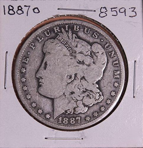 1887 O MORGAN SILVER DOLLAR 8593  GOOD